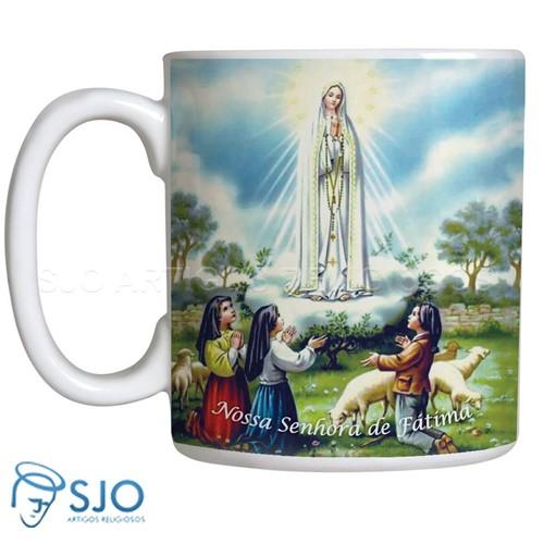 Caneca Nossa Senhora de Fátima com Oração | SJO Artigos Religiosos