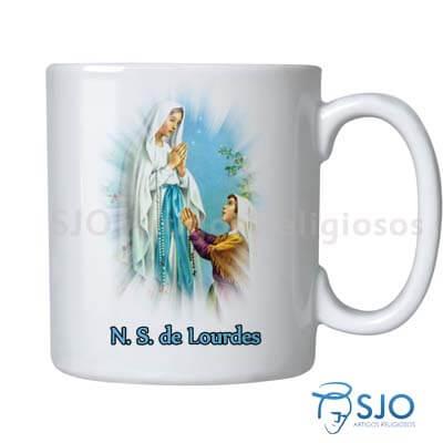 Caneca Nossa Senhora de Lourdes com Oração | SJO Artigos Religiosos