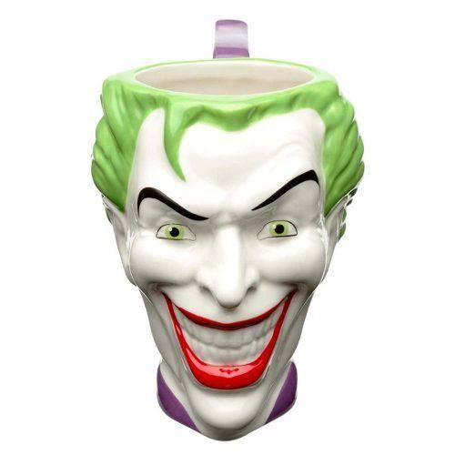 Caneca Porcelana Coringa Joke Core 3d Dc Liga da Justiça 16c