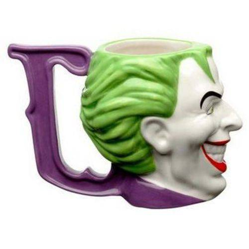 Caneca Porcelana 3D 235ml Coringa, Joker Face - DC Comics