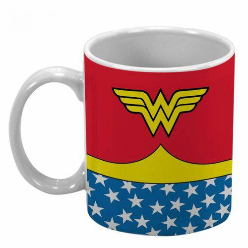 Caneca Porcelana Dc Body Wonder Woman