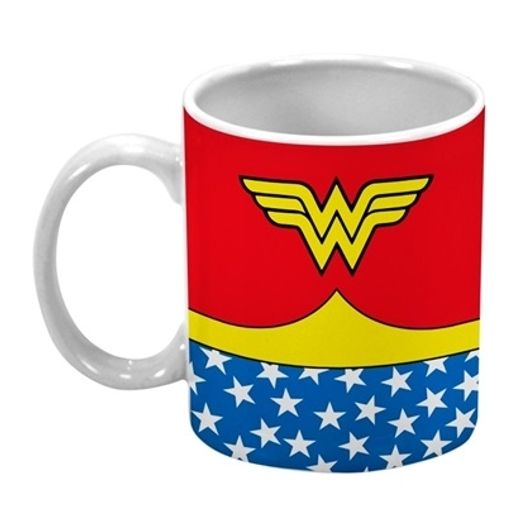 Caneca Porcelana Dc Ww Body Customs Vermelha 75028631 Urban