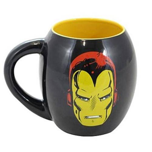 Caneca Porcelana Oval Marvel Iron Man 530ml
