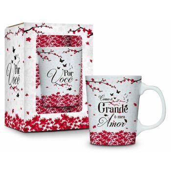 Caneca Porcelana Premium - Amor - Como é Grande o Meu Amor