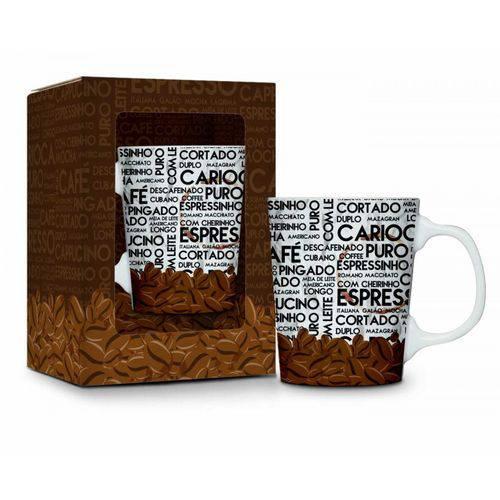 Caneca Porcelana Premium Café Carioca 280ml Presente Café