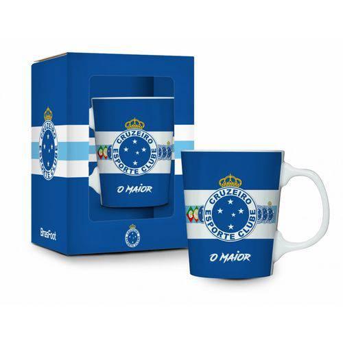 Caneca Porcelana Premium Cruzeiro Azul 280ml Presente