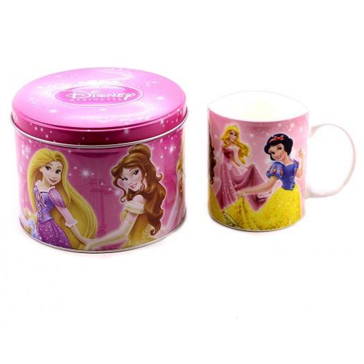 Caneca 3 Princesas Ariel/Bela/Rapunzel Lata F190-Ps9 Minas