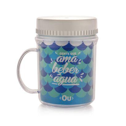 Caneca Térmica com Tampa Hermética H2O 400ml ou