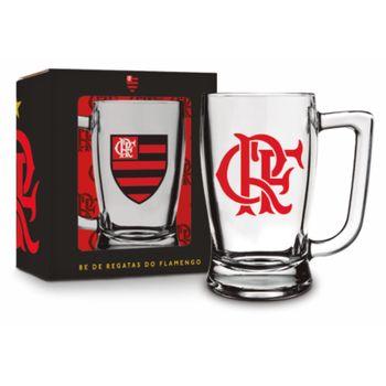 Caneca Vidro 340ml - Flamengo