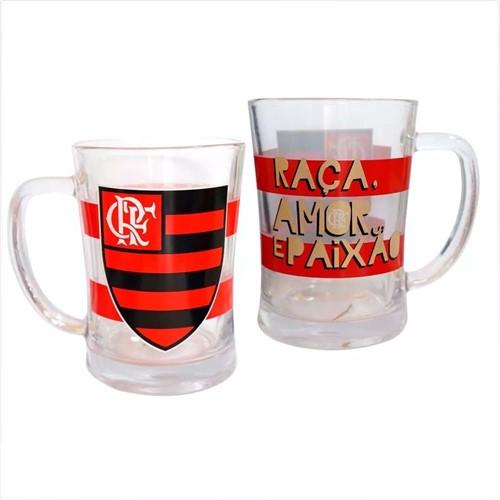 Canecão de Vidro Flamengo UN