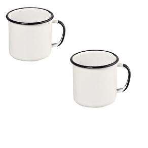 Canecas 2 (duas) de Qualidade em Agata - 370 Ml - Branca - Ewel