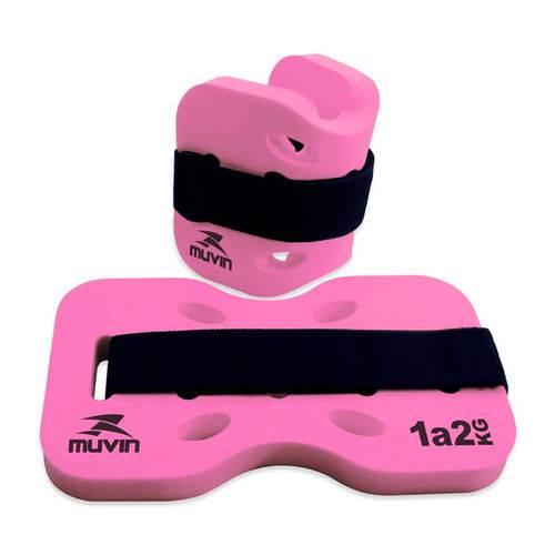 Caneleira Hidroginástica - 1kg a 2kg - Pink - Muvin Cnh-100