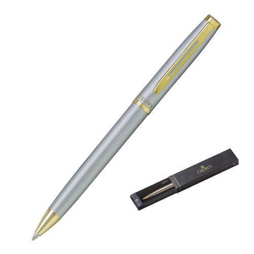 Caneta Esferográfica Libra Gold Prata Yw10078s - Crown