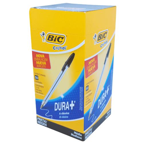 Caneta Esferográfica Preta Bic Cristal 1.0 - 50 Unidades 1016121