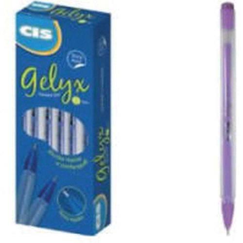 Caneta Gel Cis Gelyx Lilas 1.0mm Sertic Cx.c/12