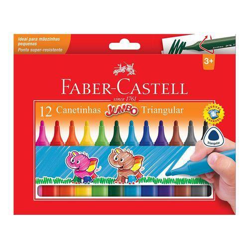 Caneta Hidrocor Faber Castell Jumbo Triangular 012 Cores 15.0212J