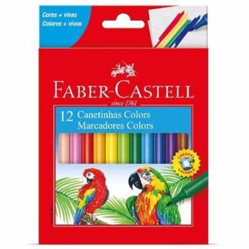 Caneta Hidrográfica 12 Cores Faber Castell Lavável