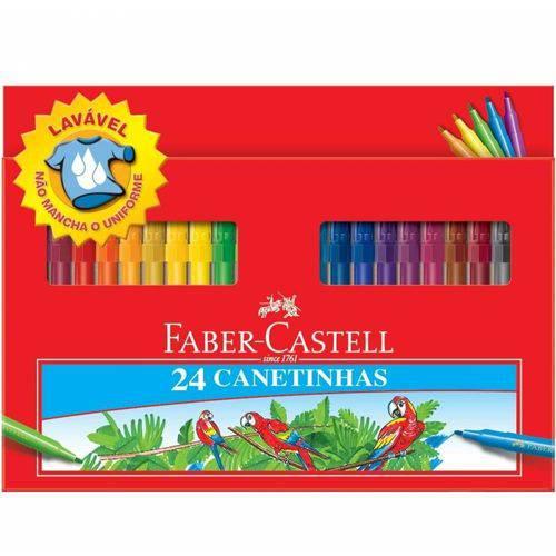 Caneta Hidrográfica 24 Cores Grande Faber-castell
