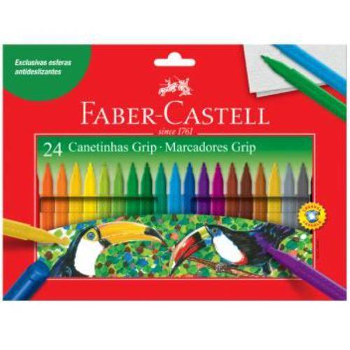 Caneta Hidrográfica Colour Grip Faber Castell 24 Cores