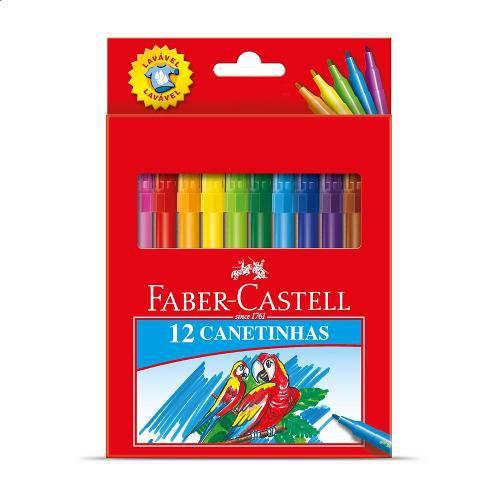 Caneta Hidrográfica Faber Castell 12 Cores