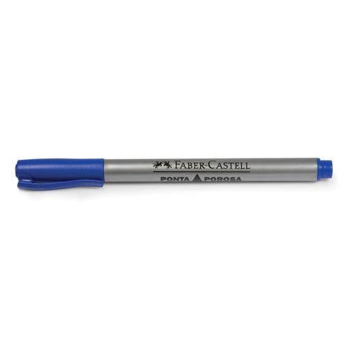 Caneta Hidrográfica Ponta Porosa Softpoint Azul - Faber Castell