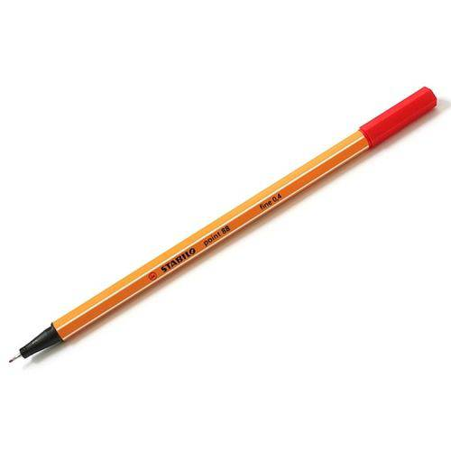 Caneta Stabilo Point 88 0.4Mm - Vermelho
