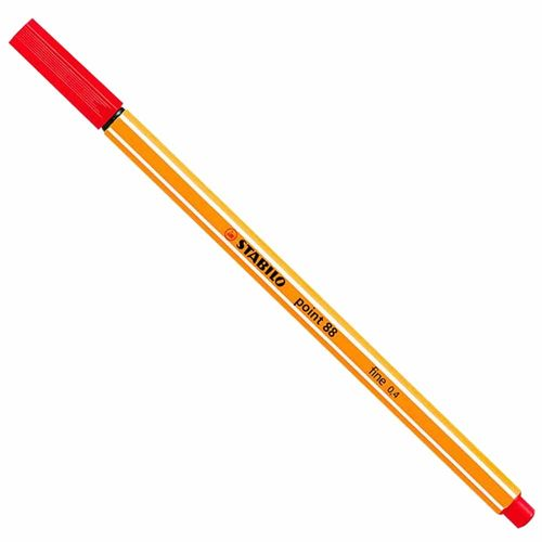 Caneta Stabilo Point 88/40 Fine 0.4 Vermelha 1007119