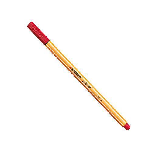 Caneta Stabilo Point 88 Vermelha