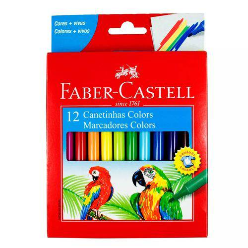 Canetinha Colors 12 Cores Faber Castell