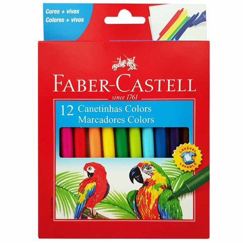 Canetinha Hidrográfica 12 Cores Faber Castell 1014743