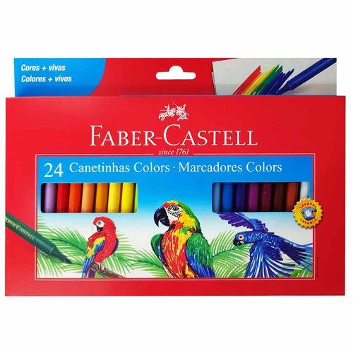 Canetinha Hidrográfica 24 Cores Faber Castell 1014744