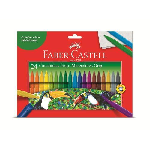 Canetinha Hidrográfica Grip 24 Cores Faber Castell