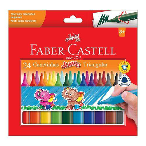 Canetinha Jumbo Faber-castell 24 Cores