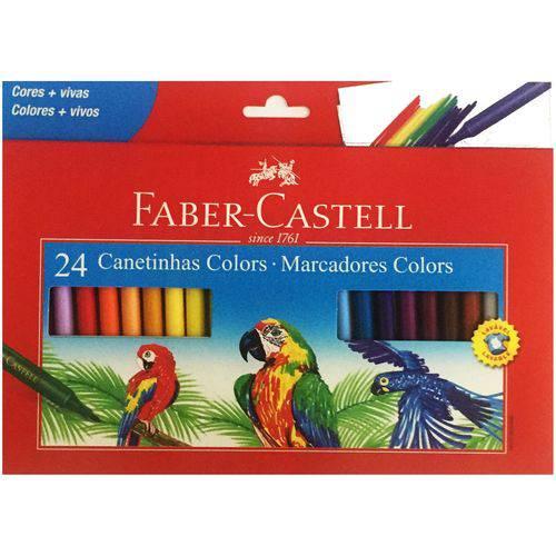 Canetinhas Colors 24 Cores Faber Castell