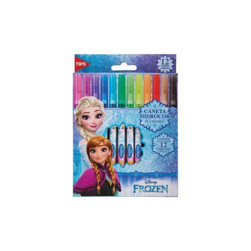 Canetinhas Hidrográficas Frozen Disney 12 Cores