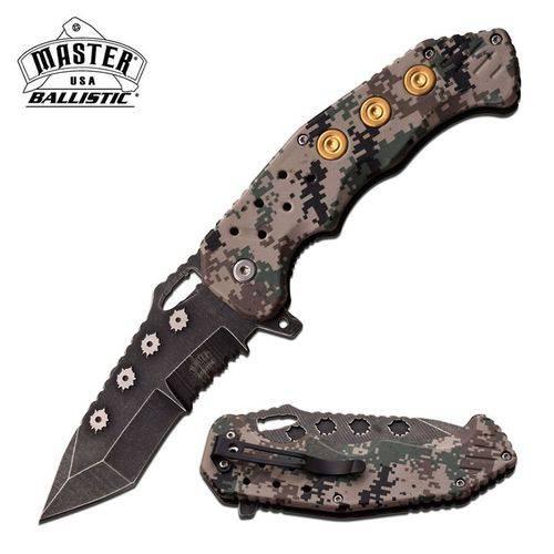 Canivete Master Usa com Abertura Assistida e Talas em Fibra de Nylon Digital Camo Master Cutlery