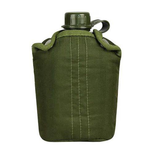 Cantil Termico Militar de Aluminio 900ml Plastico NTK Verde