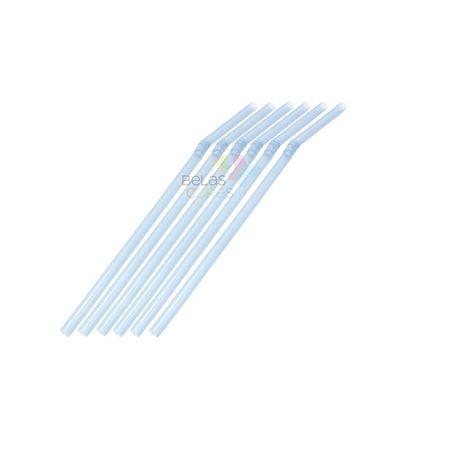 Canudo Flexível Neon Azul - 50 Unidades Canudo Flexível Neon Azul - 50 Unidade