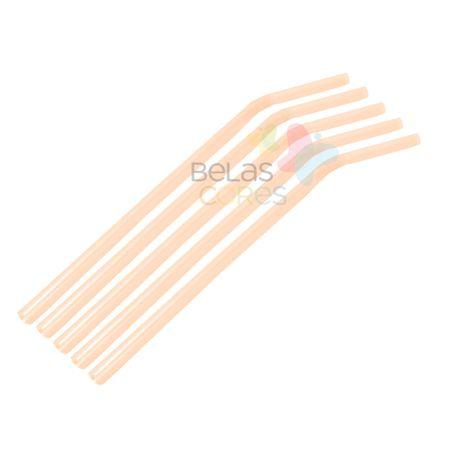 Canudo Flexível Neon Laranja - 50 Unidades Canudo Flexível Neon Laranja - 50 Unidades