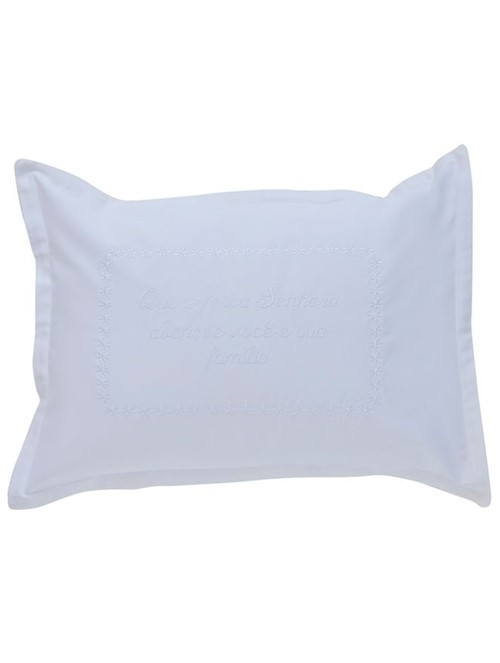 Capa Almofada Oração Nossa Senhora - Branco-branco - 30x40
