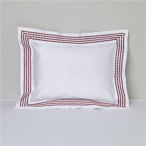 Capa Almofada Rubino - Branco-vinho - 30x40