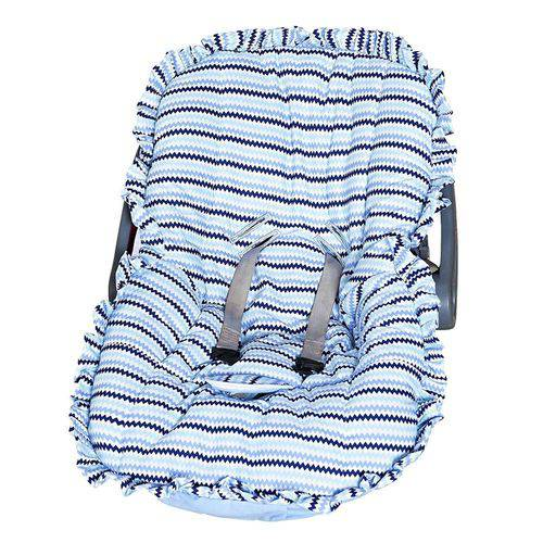 Capa Bebê Conforto Estampada Ref: A-14- Cor-azul