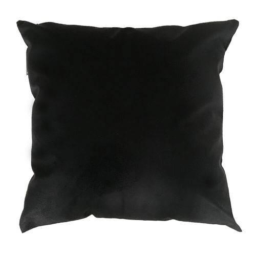 Capa de Almofada 52x52 Suede Preta
