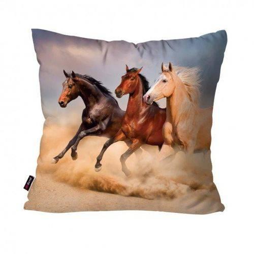 Capa de Almofada Avulsa Areia Cavalos