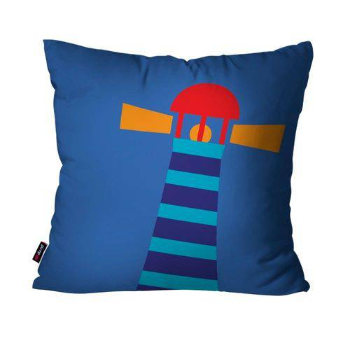 Capa de Almofada Avulsa Infantil Azul Farol
