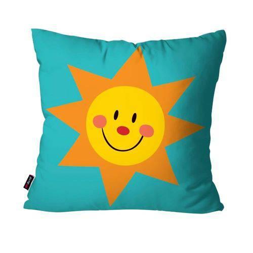 Capa de Almofada Avulsa Infantil Azul Sol