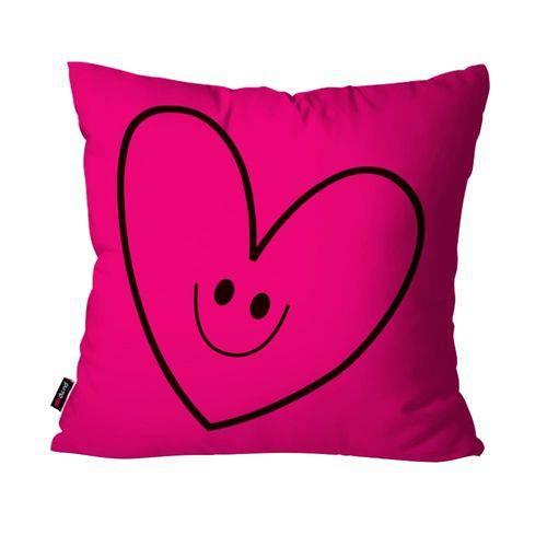 Capa de Almofada Avulsa Infantil Pink Coração