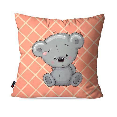 Capa de Almofada Avulsa Infantil Salmão Urso