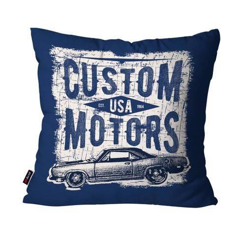 Capa de Almofada Decorativa Avulsa Azul Custom Motors