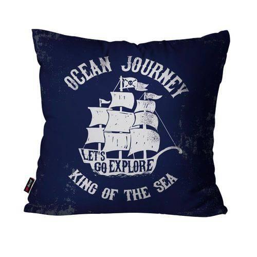Capa de Almofada Decorativa Avulsa Azul Ocean Journey